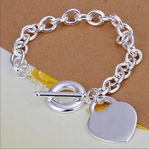Jewelry - Heart charm bracelet 925 Stamped
